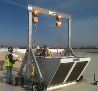 Hoisting-Rigging Equiment Rentals 3-Ton Aluminum Gantry with Pneumatic Tires